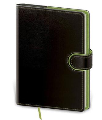 Stil trade - Zápisník Flip A5 linkovaný - černo/zelená