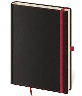 Stil trade - Zápisník Black Red - M tečkovaný