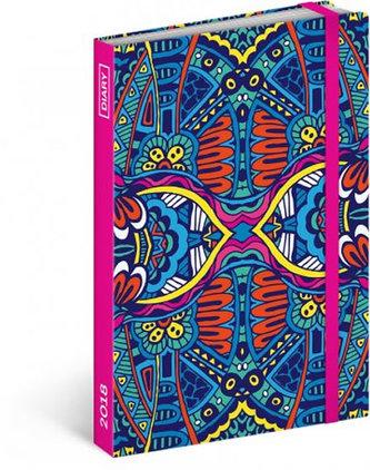 Diář 2018 - Mandala, týdenní, 10,5 x 15,8 cm - západní verze - neuveden