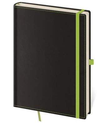 Stil trade - Zápisník Black Green - M linkovaný