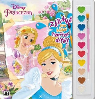 Princezny - Omalovánky s barvami A4 - neuveden