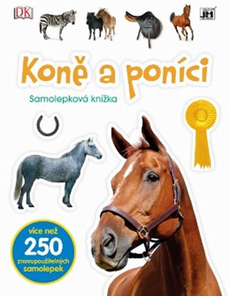 Koně a poníci - Samolepková knížka - neuveden