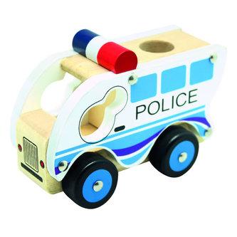 Dřevěné auto policie - neuveden