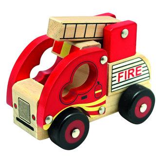 Dřevěné auto hasiči - neuveden