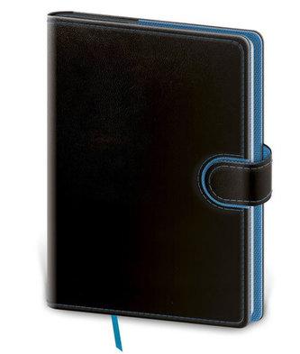 Stil trade - Zápisník Flip B6 linkovaný - černo/modrá