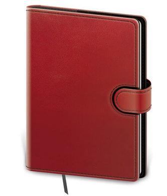 Stil trade - Zápisník Flip B6 linkovaný - červeno/černá