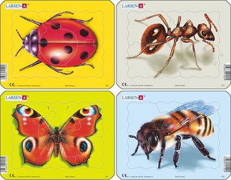 Puzzle MINI - Beruška, motýl, mravenec, včela/5 dílků (4 druhy) - neuveden