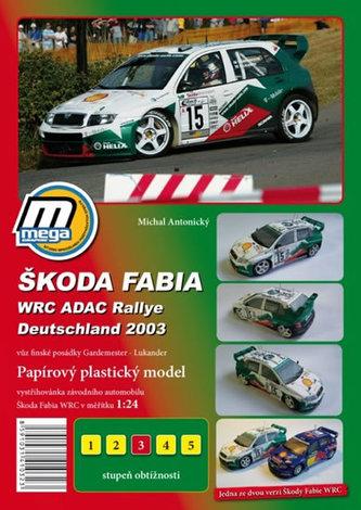 Škoda Fabia WRC ADAC Rallie Deutschland 2003/papírový model - Antonický Michal