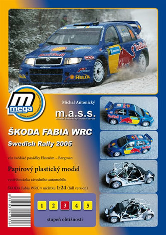 Škoda Fabia WRC ADAC Swedish Rally 2005/papírový model - Antonický Michal
