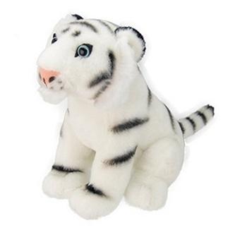 Plyšový tygr bílý 25 cm