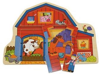 BINO - Dřevěné puzzle - Farma