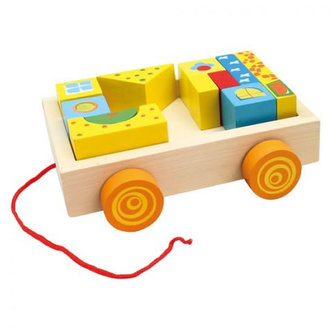Bino - Vozík s kostkami 19 ks
