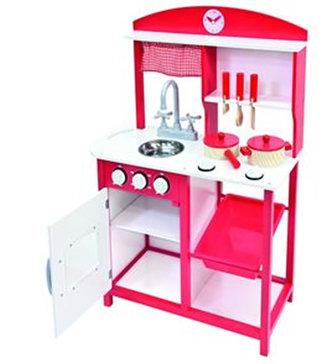 BINO - Dětská kuchyňka s příslušenstvím 5ks