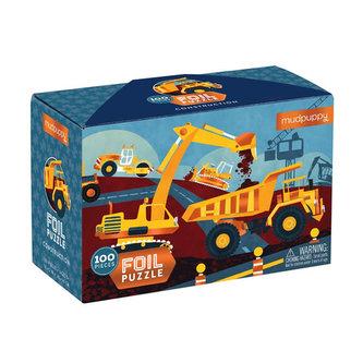 Foil Puzzle:Construction/Puzzle: Stavební stroje (100 dílků) - neuveden