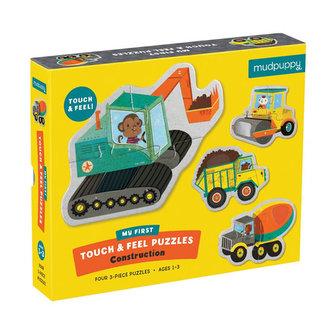 My First Touch & Feel Puzzles:Construction/Moje první dotyková puzzle: Stavební stroje - neuveden