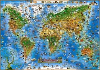 Živočichové celého světa - Ilustrovaná mapa pro děti - neuveden