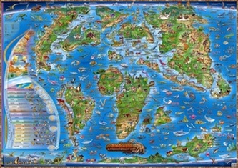 Dinosauři a prehistorický svět - Ilustrovaná mapa pro děti - neuveden