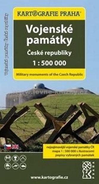 Vojenské památky České republiky 1:500 tis. - neuveden