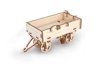 Dřevěný mechanický model Vozík k traktoru