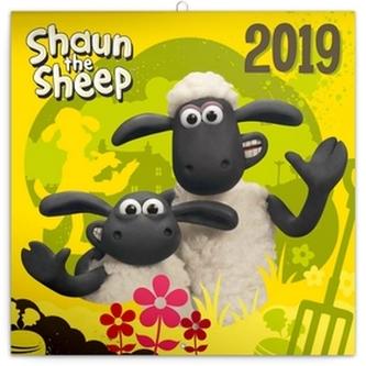 Kalendář poznámkový 2019 - Ovečka Shaun, 30 x 30 cm - neuveden