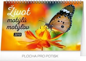 Kalendář stolní 2019 - Život motýlů – motýlov CZ/SK, 23,1 x 14,5 cm - neuveden