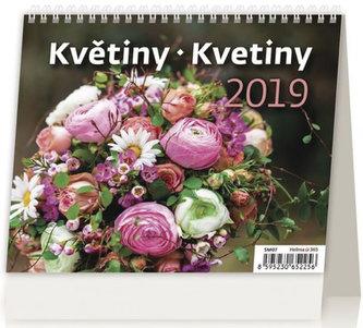 Kalendář stolní 2019 - Minimax Květiny/Kvetiny - neuveden