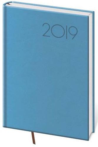 Diář 2019 - Print/týdenní A5/světle modrá - neuveden
