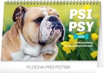 Kalendář stolní 2019 - Psi – Psy CZ/SK, 23,1 x 14,5 cm - neuveden