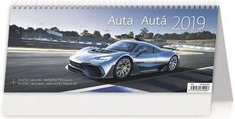 Kalendář stolní 2019 - Auta/Autá - neuveden