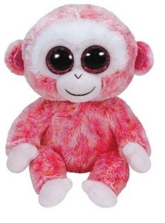Plyš očka střední Opice růžová