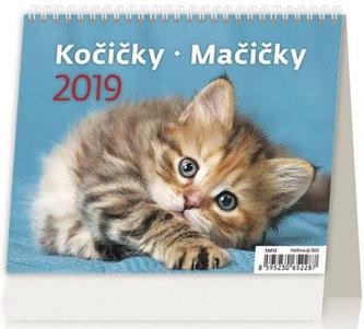 Kalendář stolní 2019 - MiniMax Kočičky/Mačičky - neuveden
