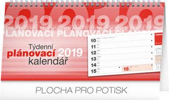 Kalendář stolní 2019 - Plánovací řádkový, 25 x 12,5 cm - neuveden