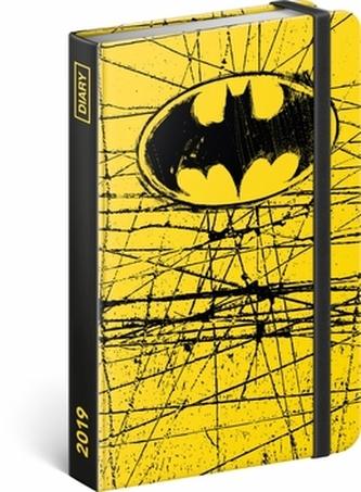Týdenní diář Batman 2019, 10,5 x 15,8 cm - neuveden