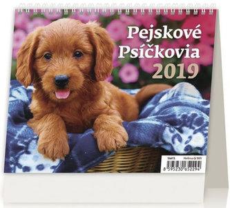 Kalendář stolní 2019 - MiniMax Pejskové/Psíčkovia - neuveden