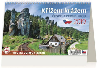 Kalendář stolní 2019 - Křížem krážem Českou republikou - neuveden