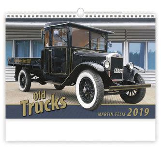 Kalendář nástěnný 2019 - Old Trucks