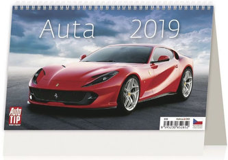 Kalendář stolní 2019 - Auta - neuveden