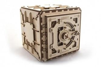 Dřevěný mechanický model Trezor