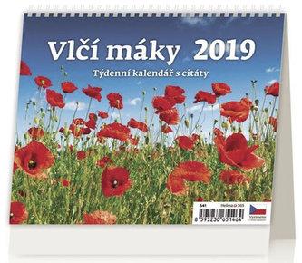 Kalendář stolní 2019 - Vlčí máky - neuveden