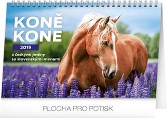 Kalendář stolní 2019 - Koně – Kone CZ/SK, 23,1 x 14,5 cm - neuveden