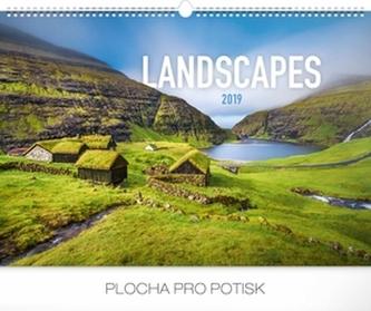 Kalendář nástěnný 2019 - Krajiny, 48 x 33 cm - neuveden