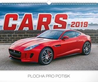 Kalendář nástěnný 2019 - Auta, 48 x 33 cm - neuveden