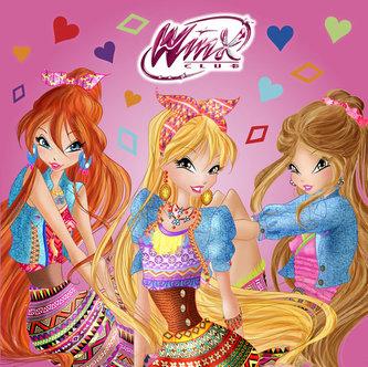 Winx Club fashion - čtvercové omalovánky - neuveden