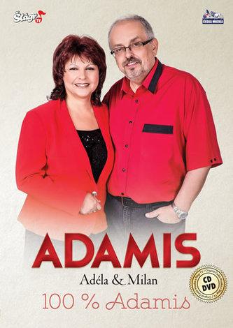 ČESKÁ MUZIKA - Duo Adamis - 100% Adamis - CD + DVD