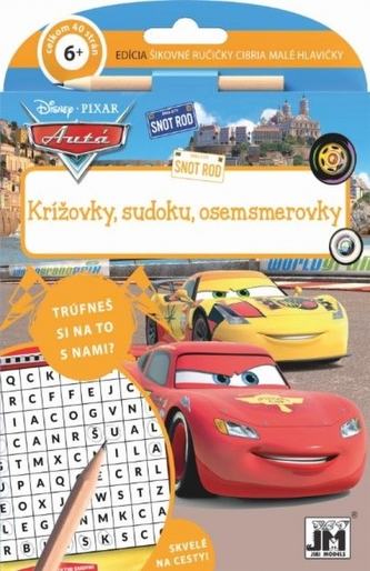 Krížovky, sudoku,osemsmerovky/ Cars - Disney