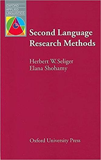 Second Language Research Methods - Seliger Herbert W.