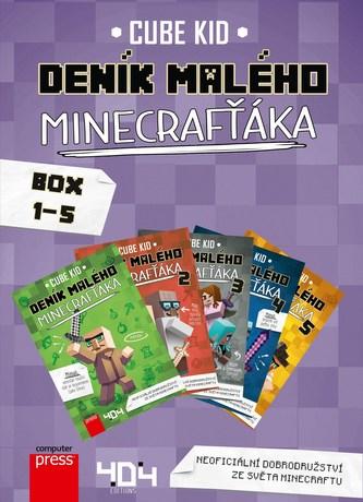 Deník malého Minecrafťáka BOX 1-5 - Cube Kid