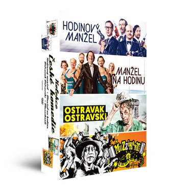 Kolekce České komedie - 4 DVD (Manžel na hodinu + Ostravak Ostravski + Hodinový manžel + Muzzikanti) - neuveden