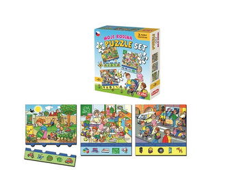 Moje rodina: Puzzle set 3 v 1