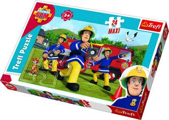 Požárník Sam v akci: Puzzle MAXI 24 dílků - neuveden